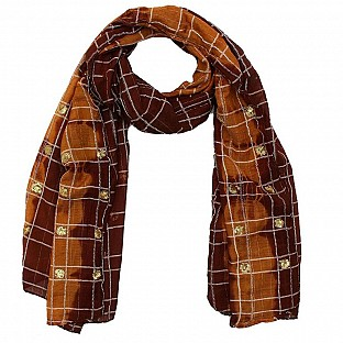 Viscose Printed Brown Scarf@ Rs.217.00