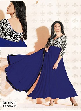 Amazing Designer Blue Georgette Anarkali Suits Buy Rs.803.00
