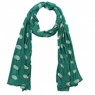 Viscose Printed Rama Green Scarf@ Rs.217.00