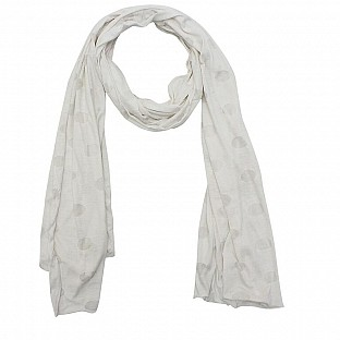 Viscose Printed White Scarf @ Rs217.00