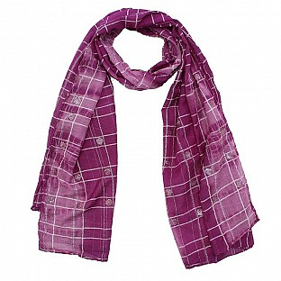 Viscose Printed Pink Scarf@ Rs.217.00
