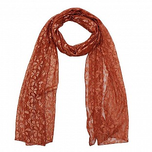 Raschel Printed Orange Scarf @ Rs217.00