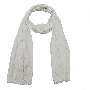 Viscose Printed White Scarf@ Rs.217.00