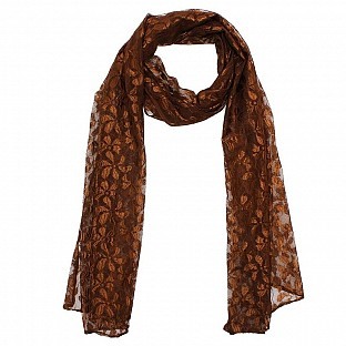 Raschel Printed Brown Scarf@ Rs.217.00