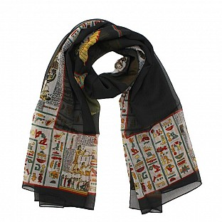 Polyster Printed Black Scarf @ Rs217.00