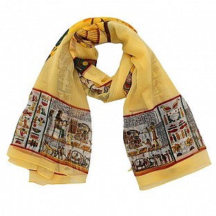 Polyster Printed Yellow Scarf@ Rs.217.00