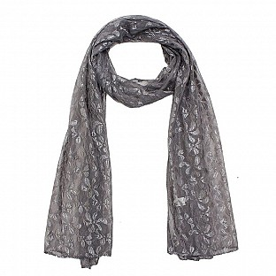 Raschel Printed Grey Scarf Buy Rs.217.00