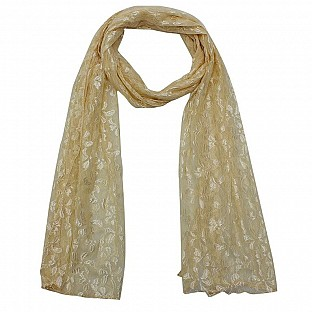 Raschel Printed Cream Scarf Buy Rs.217.00