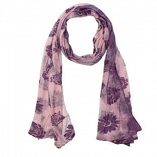 Viscose Printed Light Pink Scarf@ Rs.217.00