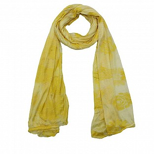 Viscose Printed Yellow Scarf@ Rs.217.00