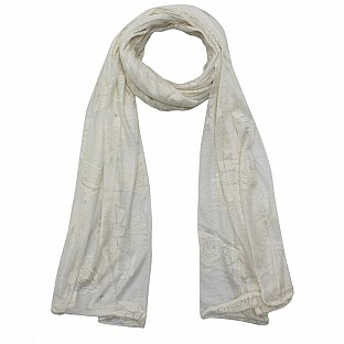 Viscose Printed Off-White Scarf @ Rs217.00