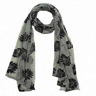 Viscose Printed Grey Scarf @ Rs217.00