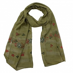 Viscose Embroidered Mendi Scarf@ Rs.217.00