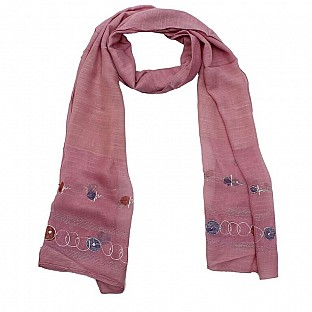 Viscose Embroidered Pink Scarf Buy Rs.217.00