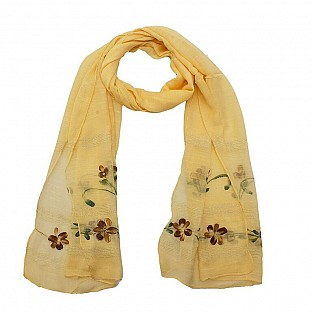 Viscose Embroidered Beige Scarf @ Rs217.00