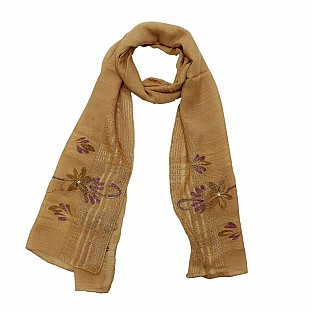 Viscose Embroidered Cream Scarf @ Rs217.00