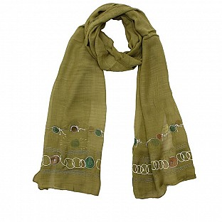 Viscose Embroidered Light Mendi Scarf@ Rs.217.00