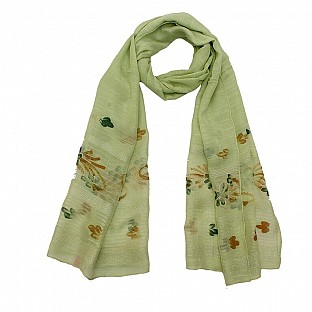 Viscose Embroidered Light Green Scarf@ Rs.217.00