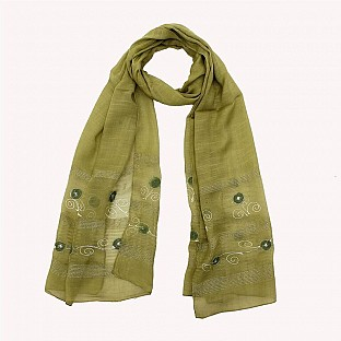 Viscose Embroidered Mendi Scarf @ Rs217.00