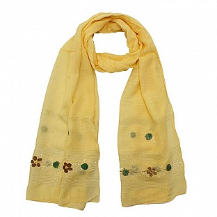 Viscose Embroidered Yellow Scarf@ Rs.217.00