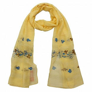 Viscose Embroidered Yellow Scarf @ Rs217.00