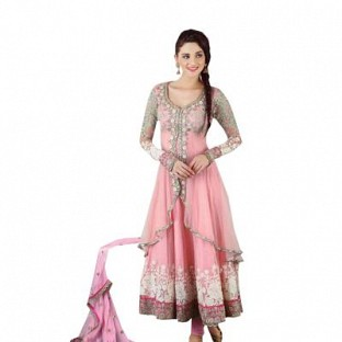 Light pink Semi Stitched Party Wear Salwar Suit @ Rs1947.00