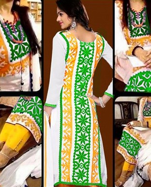 Embroidered Cotton Suit with Dupatta @ Rs399.00