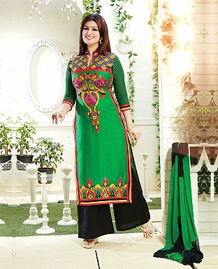Embroidery Churidaar Cotton Suit With Dupatta @ Rs1144.00