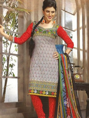 Desginer Cotton Suit with Dupatta@ Rs.720.00