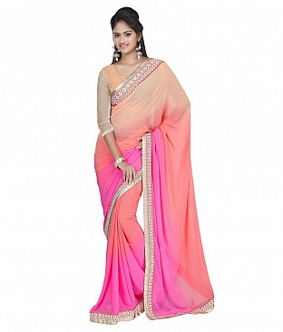 Style Sensus Multi Faux Georgette Saree @ Rs2163.00