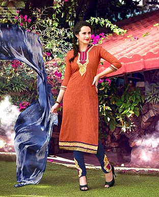 Designer Brasso Cotton  Suit with Dupatta@ Rs.350.00