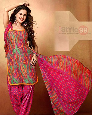 Designer Mix Cotton Salwar Suit@ Rs.349.00