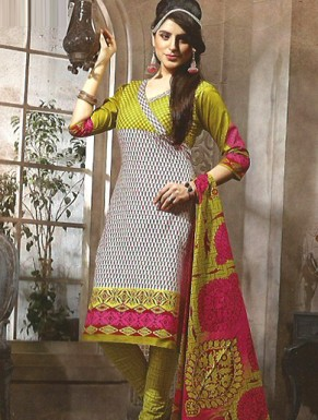 Desginer Cotton Suit with Dupatta @ Rs691.00
