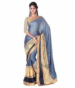 Style Sensus Gray Faux Georgette Saree @ Rs2471.00