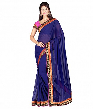 Style Sensus Gray Faux Georgette Saree @ Rs1821.00