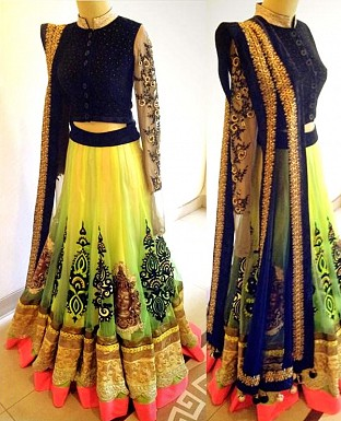 lemon pedding lehenga @ Rs4635.00