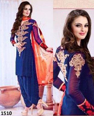 fancy bllue colour patiyala suit @ Rs1235.00