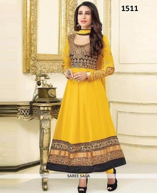 karishma kapoor yellow colour anarkali suit @ Rs1422.00