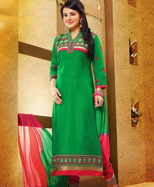 Embroidered  Designer Cotton Suit@ Rs.300.00
