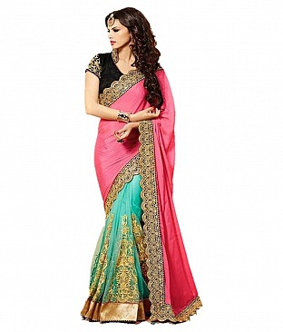 Style Sensus Blue Faux Georgette Saree @ Rs3089.00