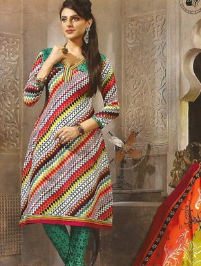 Desginer Cotton Suit with Dupatta@ Rs.514.00