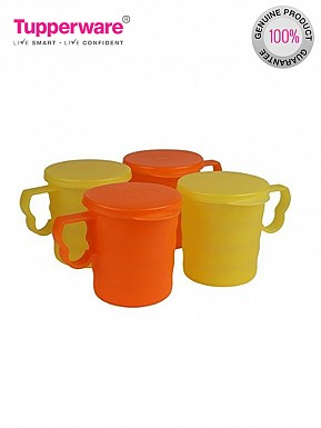 Tupperware Carribean Mug Set, Set of 4 (190)@ Rs.701.00