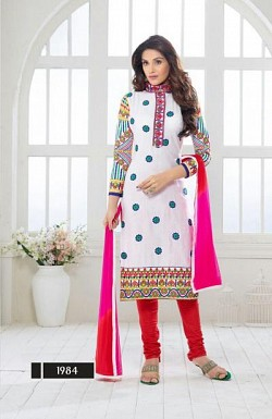 designer White colour salwar suit @ Rs1482.00