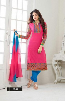 designer pink colour salwar suit @ Rs1482.00