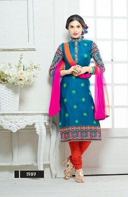 designer Sky blue colour salwar suit @ Rs1482.00