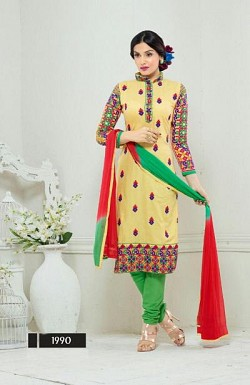 designer yellow colour salwar suit @ Rs1482.00