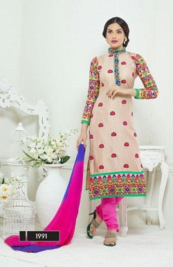designer cream colour salwar suit @ Rs1482.00