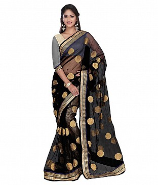 Style Sensus Black Net Saree @ Rs2471.00