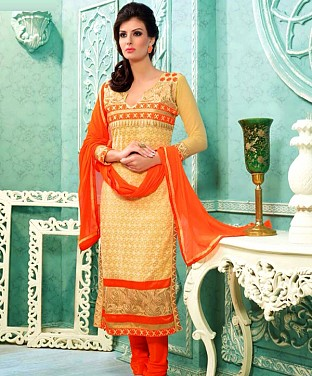 Embroidered  Designer Straight Suit @ Rs1545.00