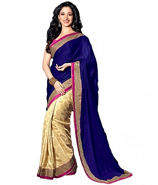 Sree Impex Blue Velvet Saree @ Rs1750.00
